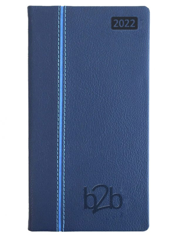 Allegro Pocket Diary - Week to View Diary - White Pages - Blue-Blue, 2022