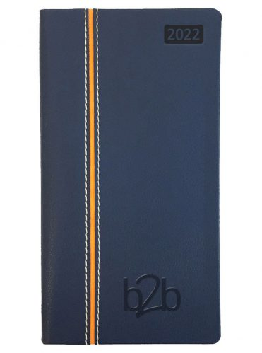 Allegro Pocket Diary - Week to View Diary - White Pages - Blue-Orange, 2022