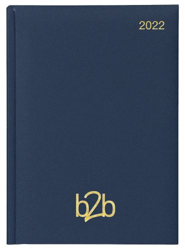 Matanza A5 Diary - Page A Day Diary - Cream Pages - Blue, 2022