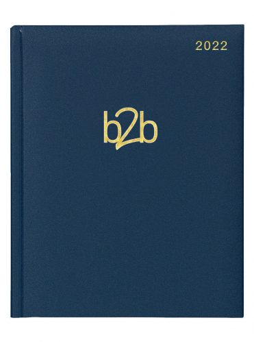 Matanza Management Desk Diary - Week to View Diary - Cream Pages - Blue, 2022