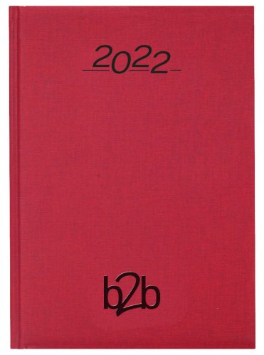 Nero A5 Diary - Page A Day Diary - White Pages - Red, 2022