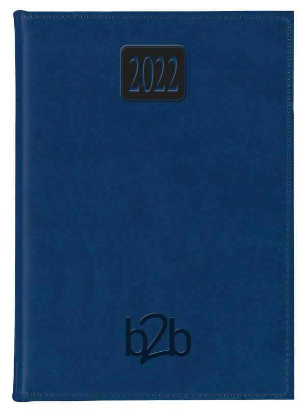 Rio A5 Diary - Page A Day Diary - Cream Pages - Blue, 2022