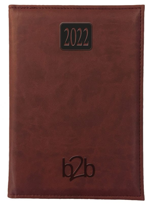 Rio A5 Diary - Page A Day Diary - Cream Pages - Burgundy, 2022