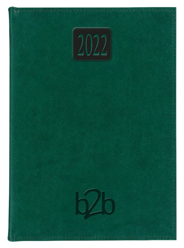 Rio A5 Diary - Page A Day Diary - Cream Pages - Green, 2022