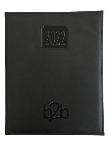 Rio Management Desk Diary - Week to View Diary - Cream Pages - Black, 2022