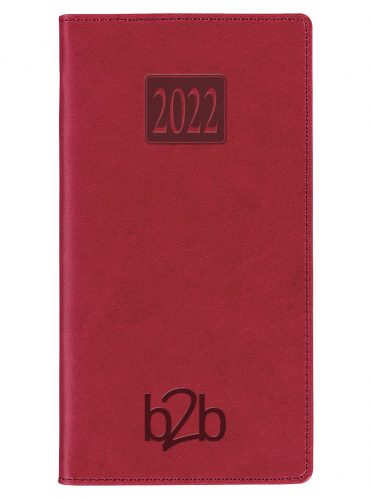 Rio Pocket Diary - Week to View Diary - Cream Pages - Burgundy, 2022