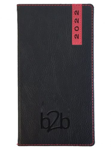Santiago Pocket Diary - Week to View Diary - Cream Pages - Black-Red, 2022