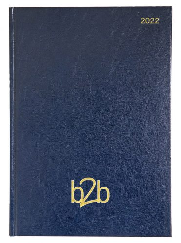 Strata A4 Diary - Page A Day Diary - White Pages - Blue, 2022