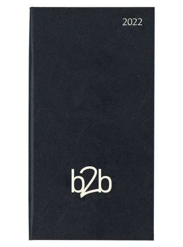 Strata Deluxe Pocket Diary - Week to View Diary - White Pages - Black, 2022